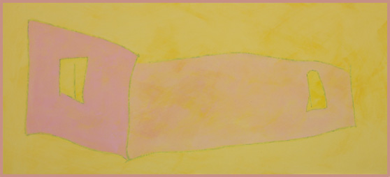 Two Walls (Rose and Yellow) - Carraher 2015