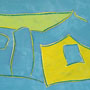 Untitled Homestead (Blue, Yellow, Green)